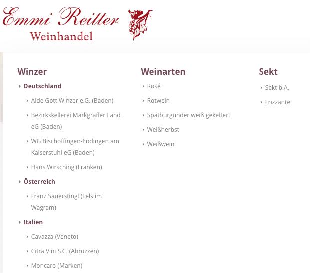 Neue Webseite Emmi Reitter mit Produktkatalog